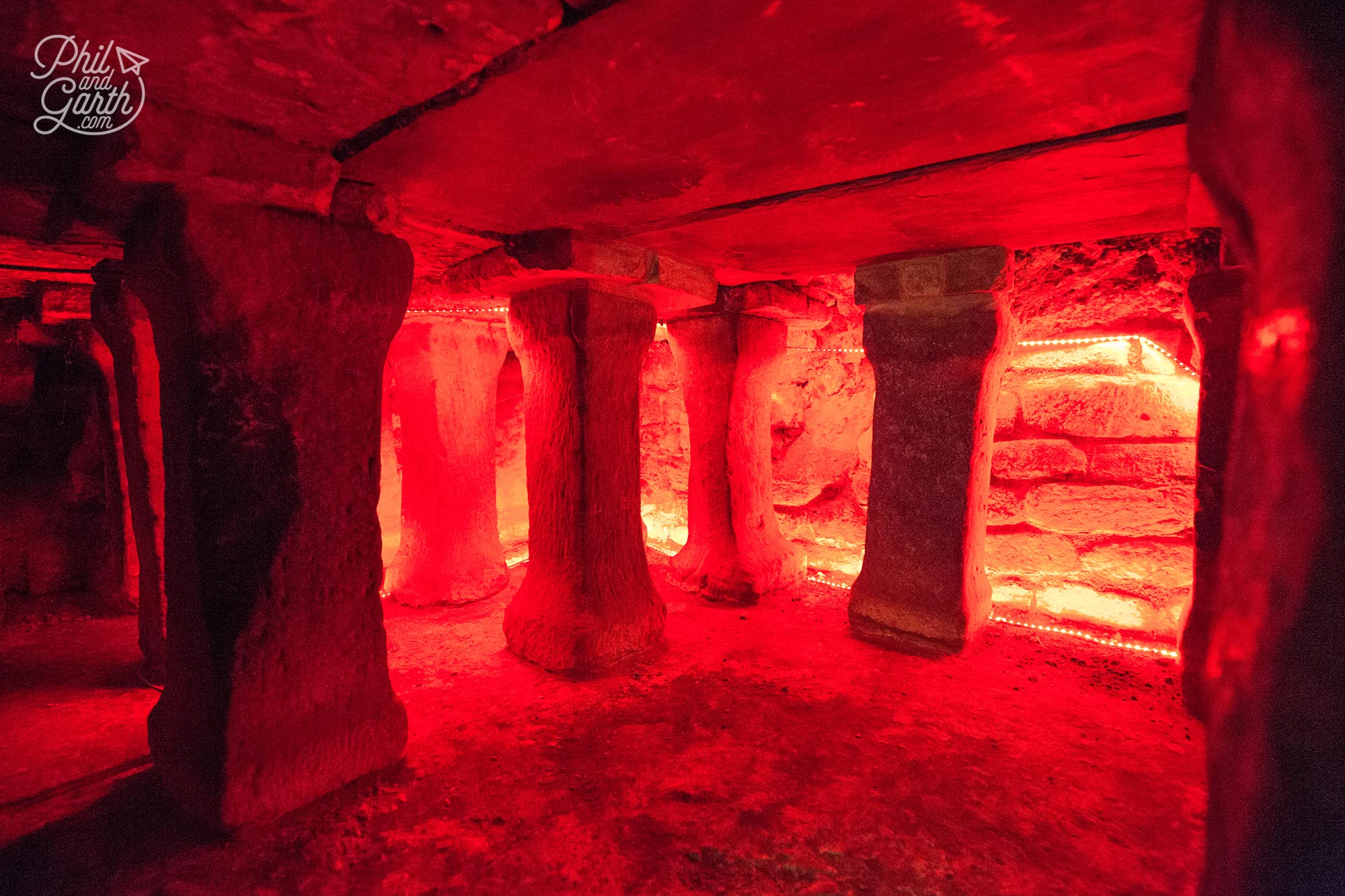 You can poke your head right inside this Roman hypocaust