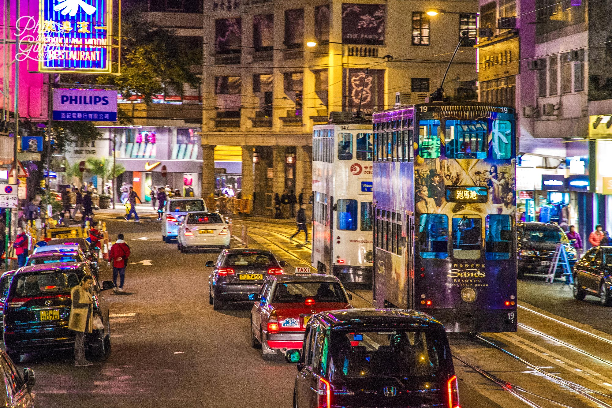 Hong Kong's iconic tall trams, just like the ones in the Harry Potter movies