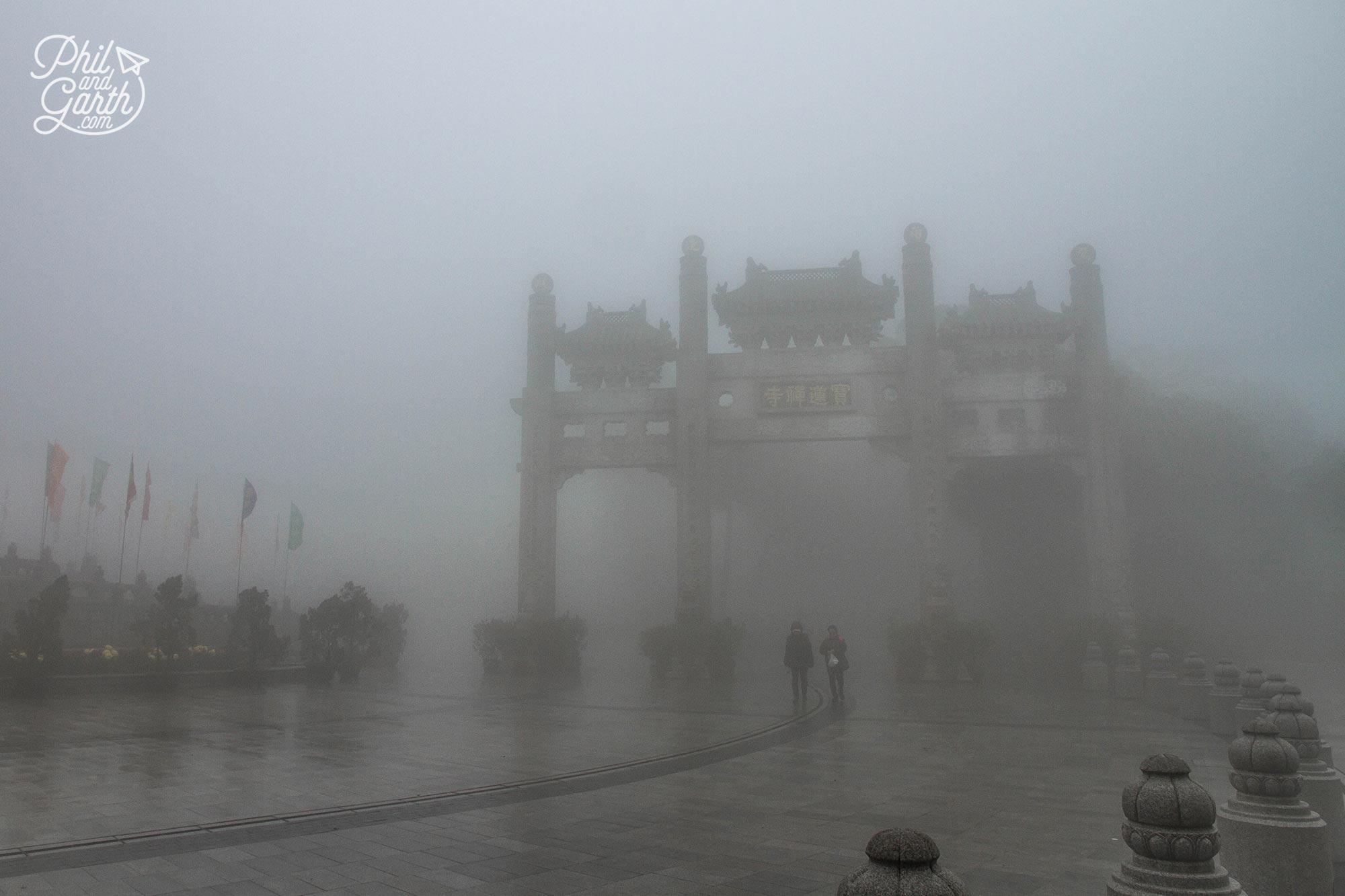 Lantau Island with practically no visibility!