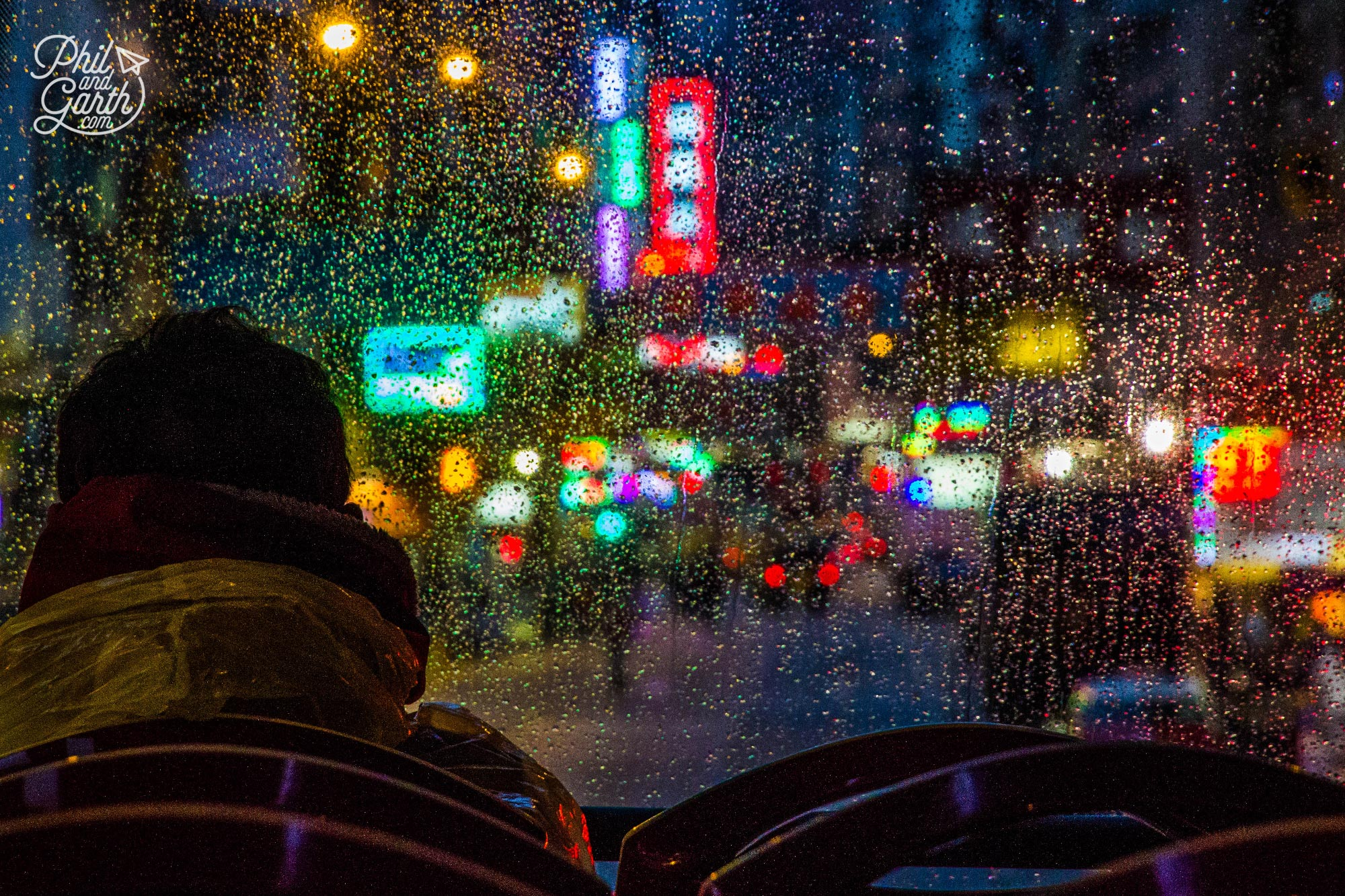 One of our favourite photos taken on the-bus driving through Kowloon