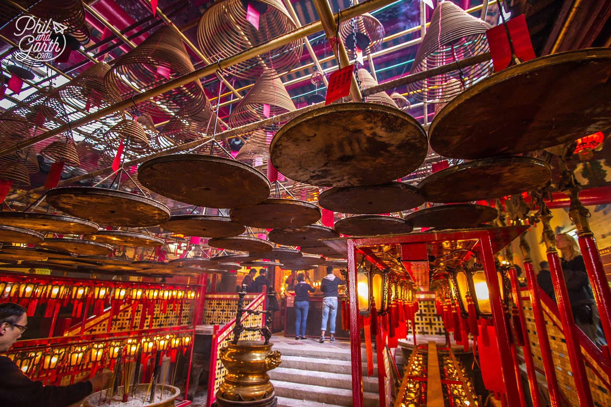 So atmospheric inside the Man Mo Temple