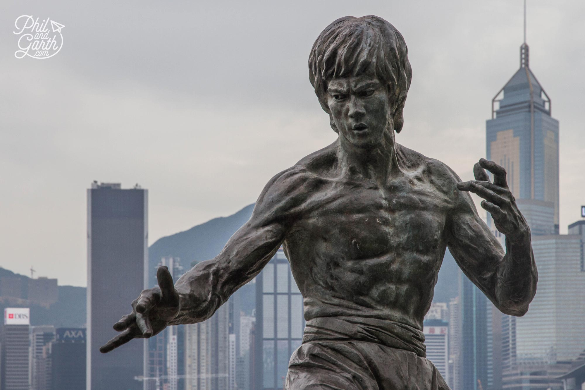 The Bruce Lee statue on The Avenue Of The Stars