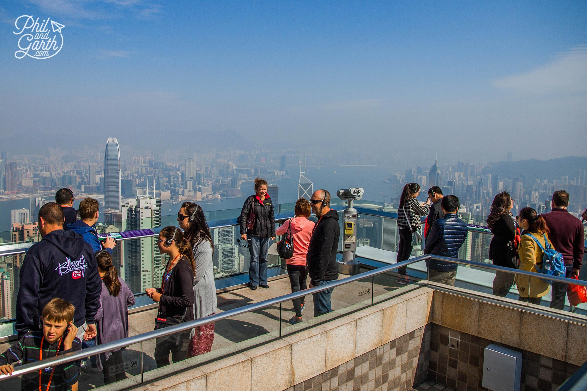 Tourists at the Sky Terrace 428