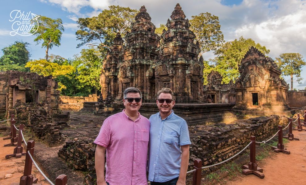 Phil and Garth at Banteay Srei