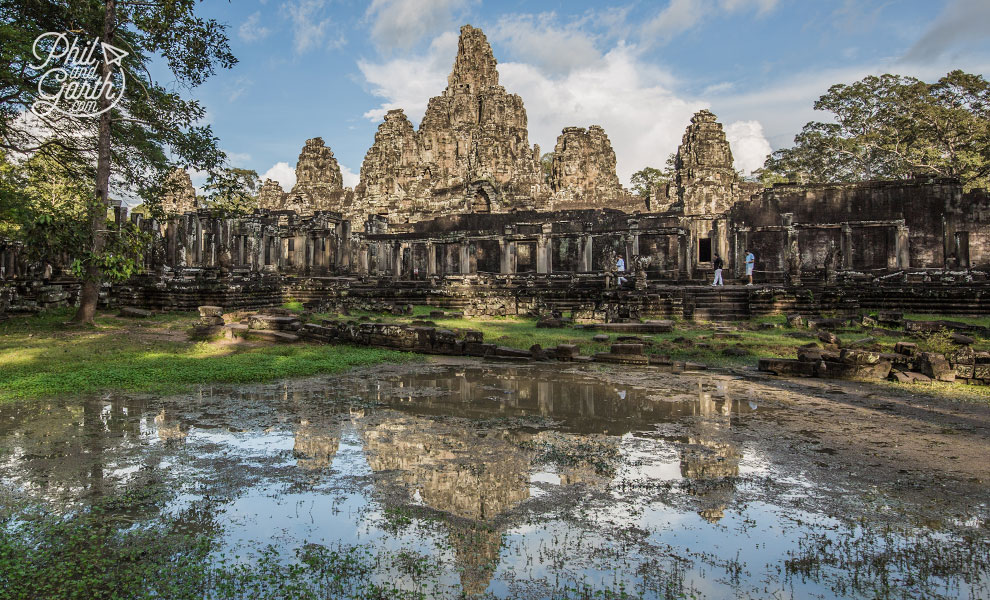 The famous Bayon Temple