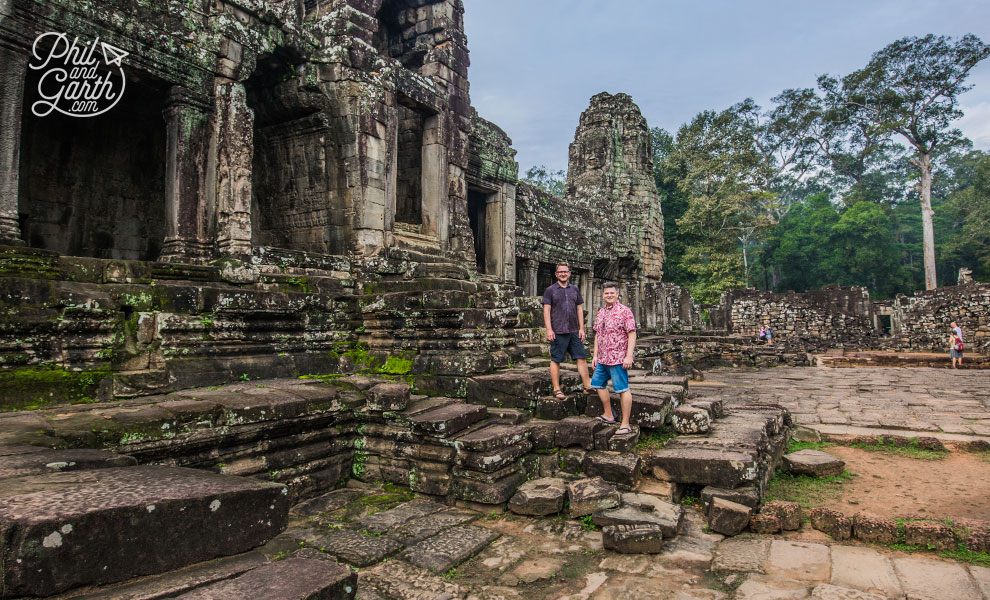 Garth and Phil at the Bayon Temple