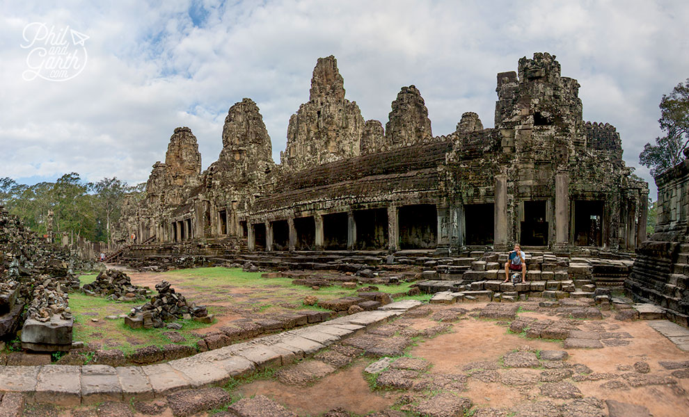 The grounds of the Bayon Temple