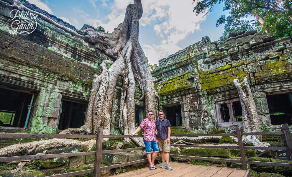 Phil and Garth at Ta Prohm