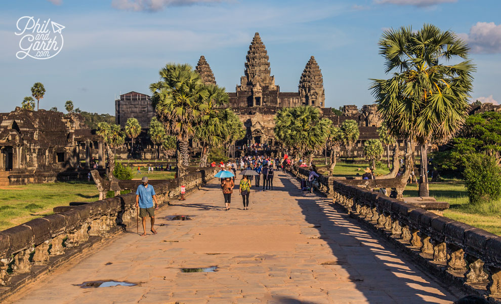 The main entrance gate to Angkor Wat
