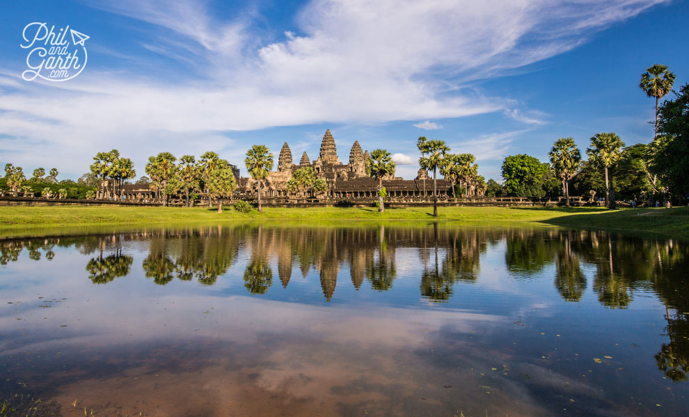 The must have iconic photo of Angkor Wat reflected in the pond