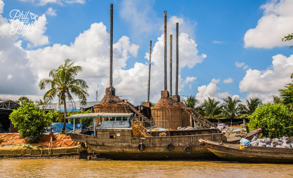 Brick factory on the Mekong