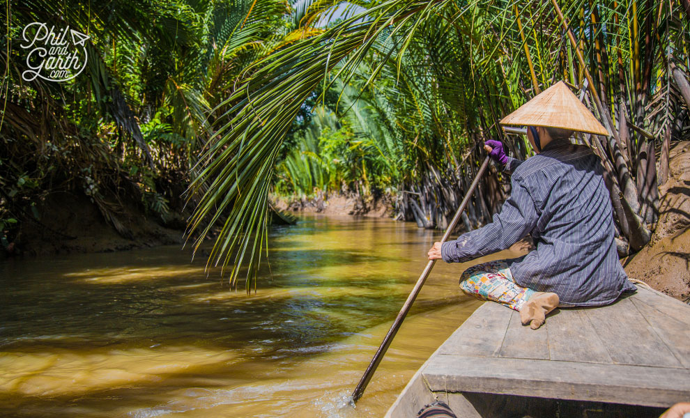 The tropical canals of the Mekong Delta
