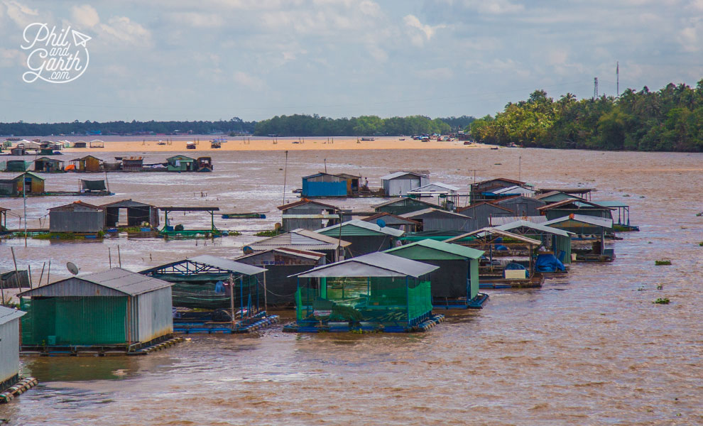 Floating fishing village on the Mekong