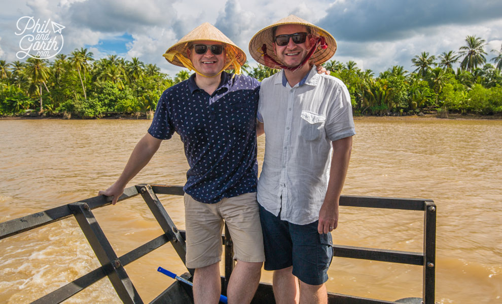 Phil and Garth on the Mekong Delta