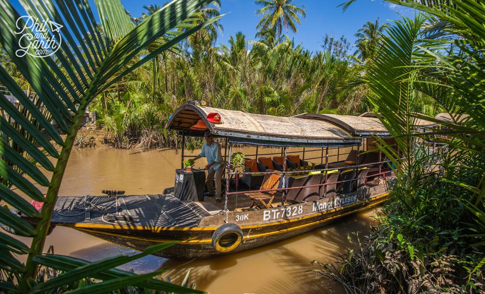 Our luxurious Mekong Delta River cruise boat
