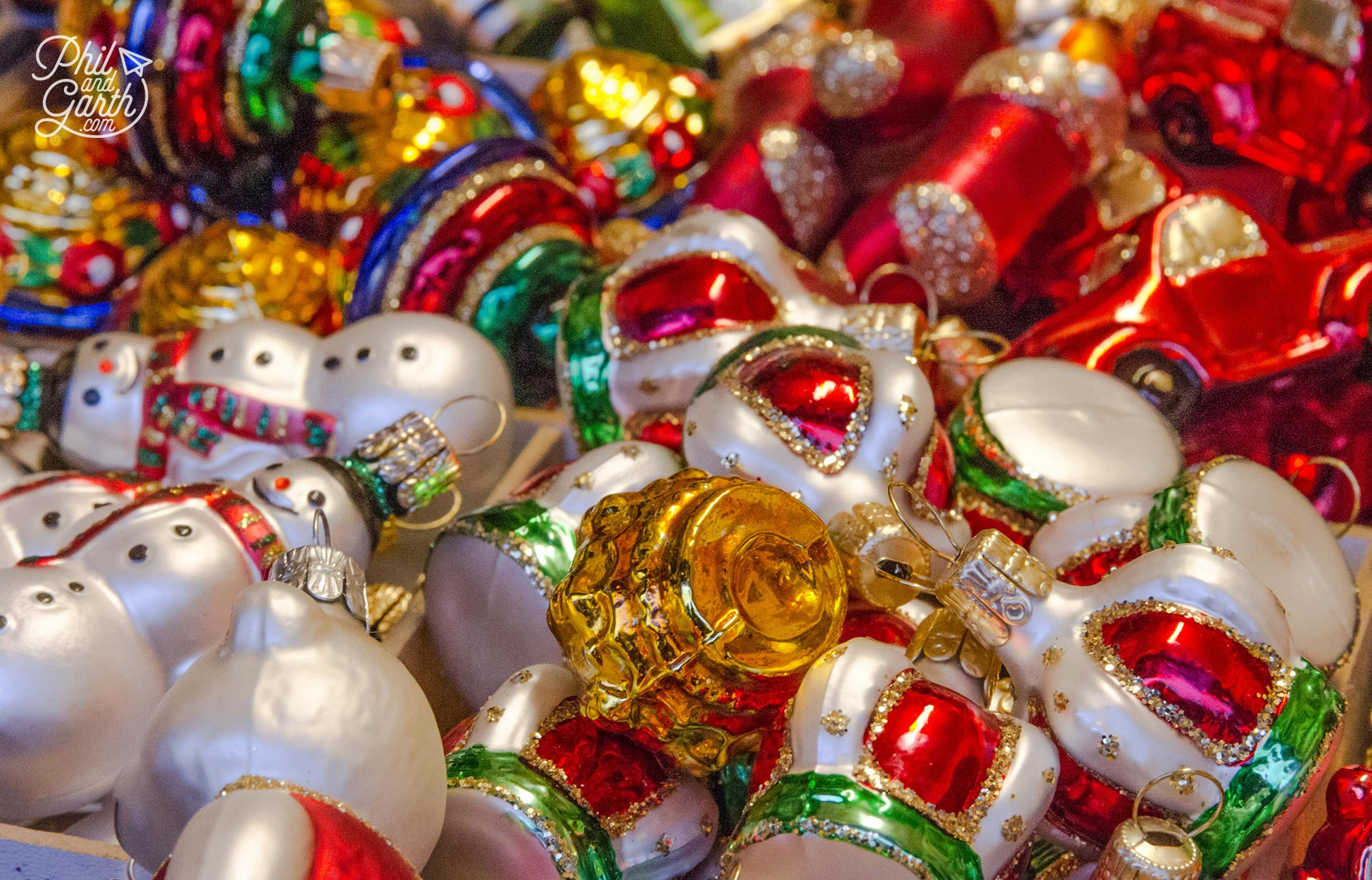 Collect Christmas tree ornaments