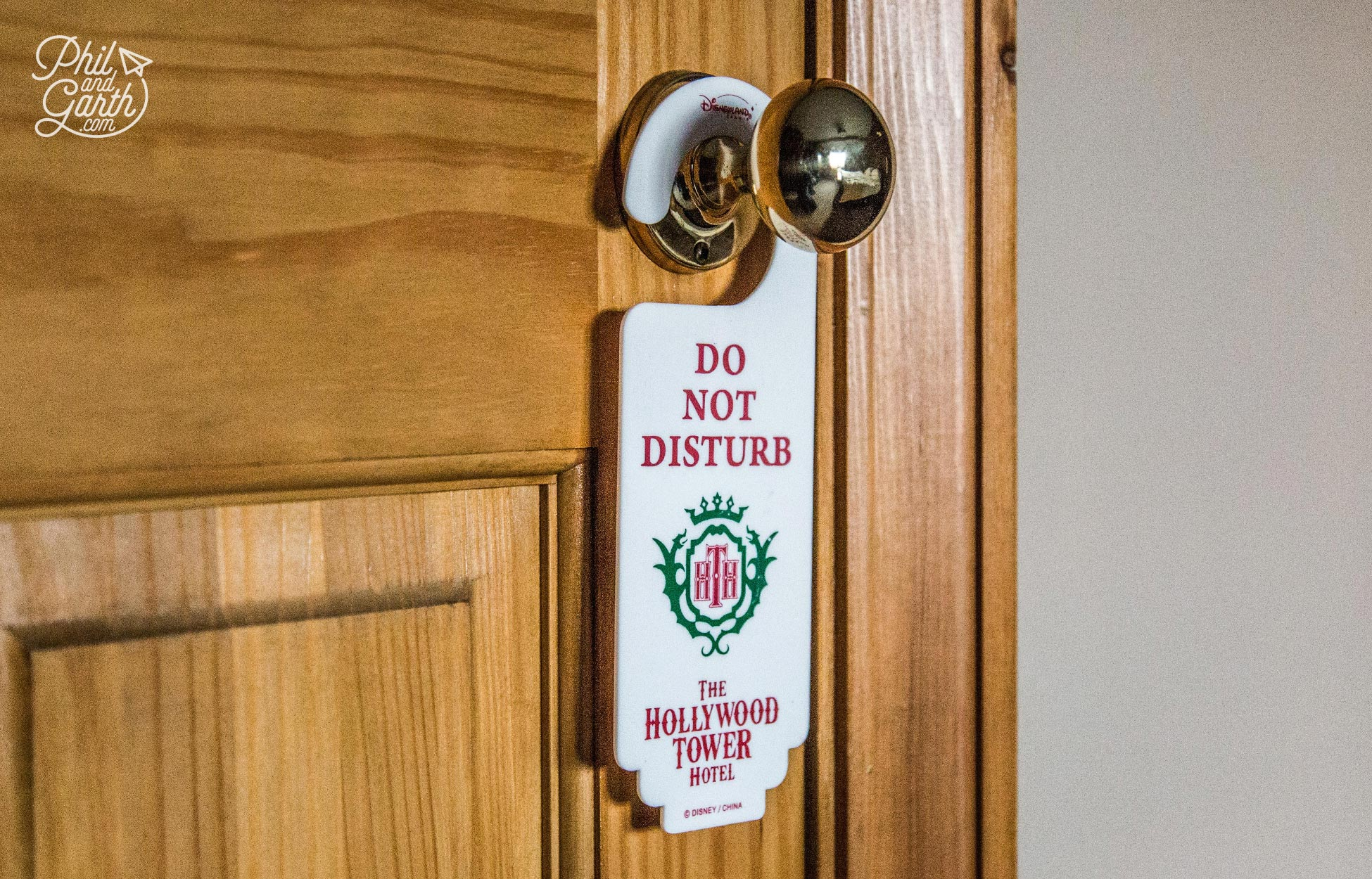 Collect or buy Do Not Disturb signs - This is one we bought from Disneyland Paris