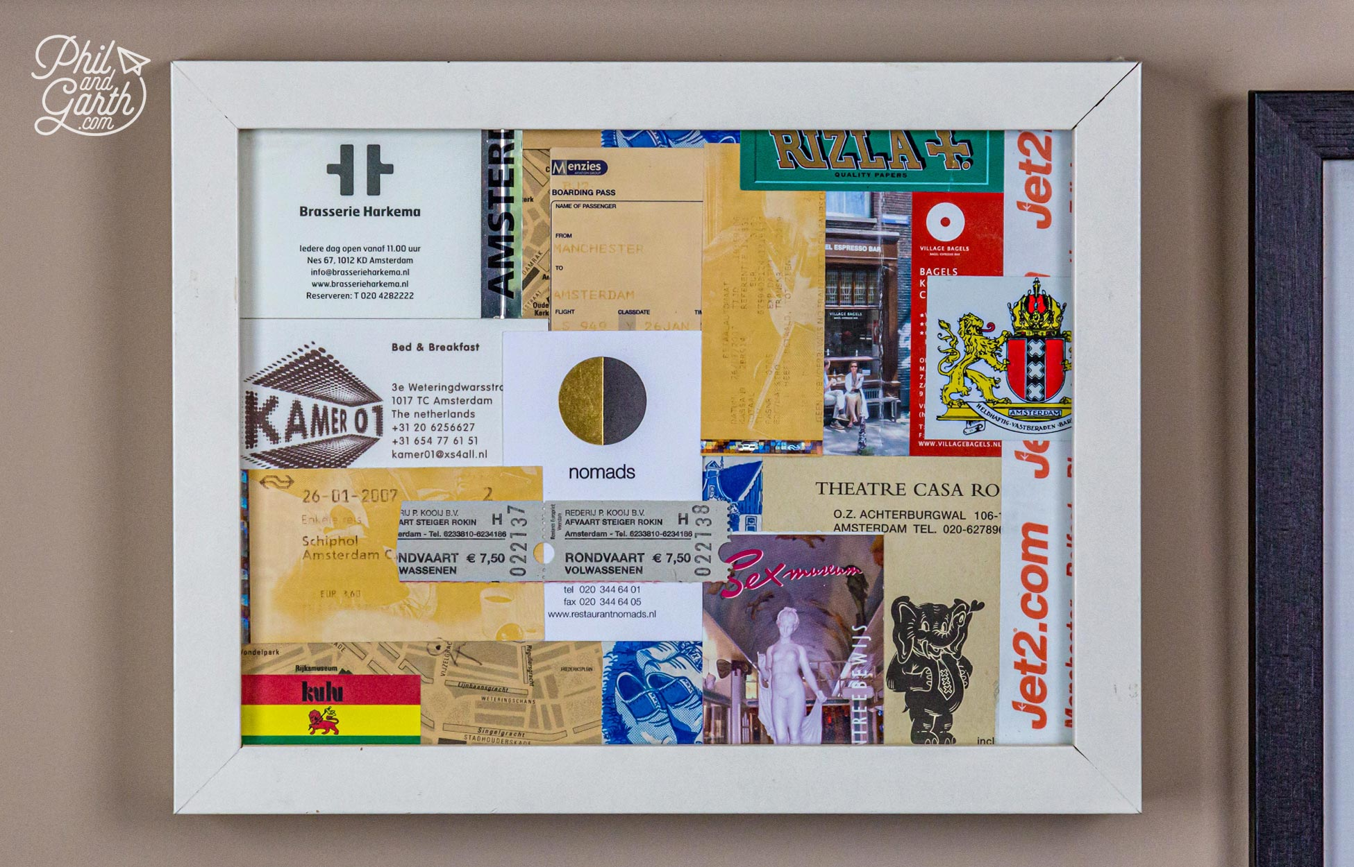 This was the first memory box we created with bits and bobs from Amsterdam