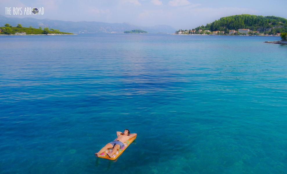 Perfect azure waters of the Mediterranean in Croatia