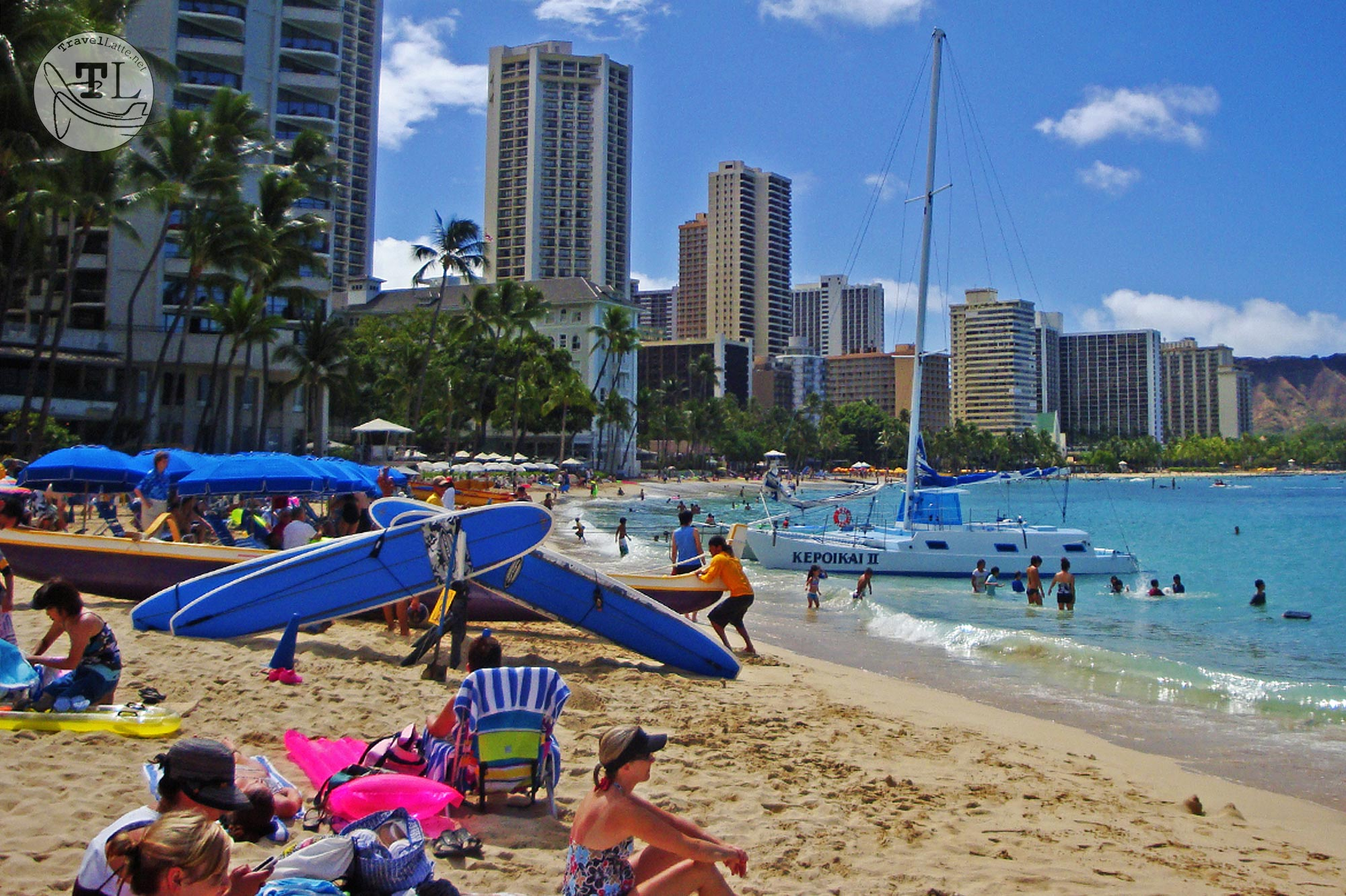 The Best Places To Travel By Month - February for sunbathing to surfing, Waikiki Beach is the epitome of fun in the sun!