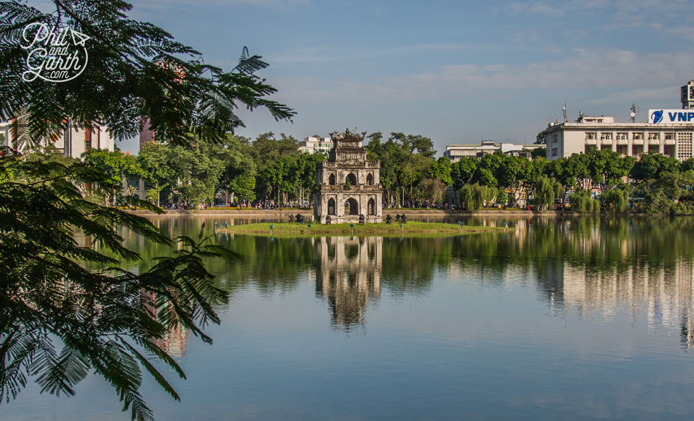 The Turtle Tower in Hoan Kiem Lake
