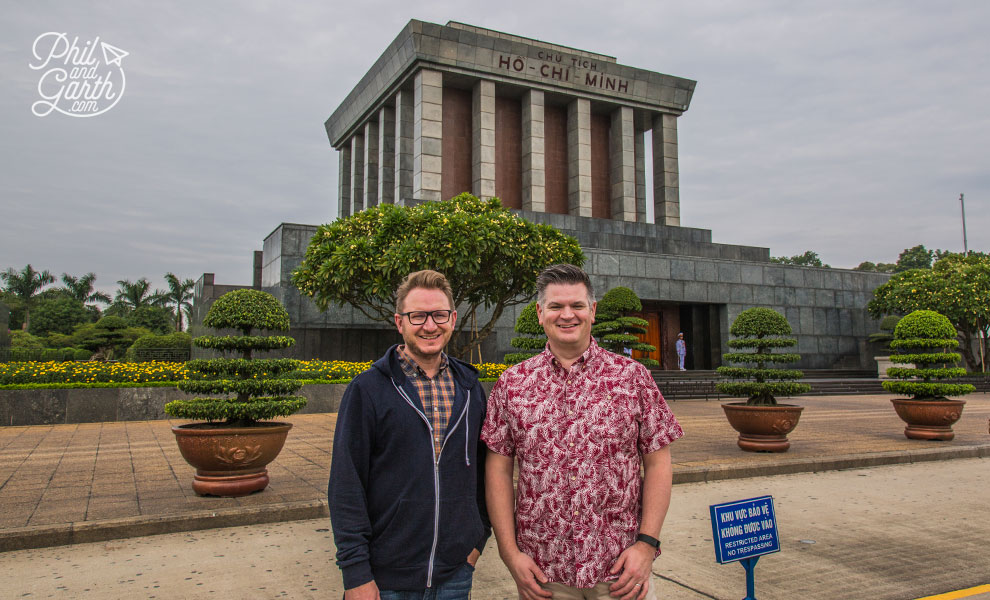 Garth and Phil at the Hoi Chi Minh Mausoleum