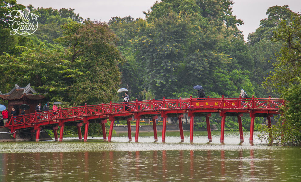 The picturesque red Huc Bridge