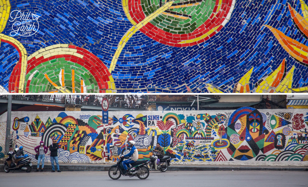Hanoi has the world's largest ceramic mosaic