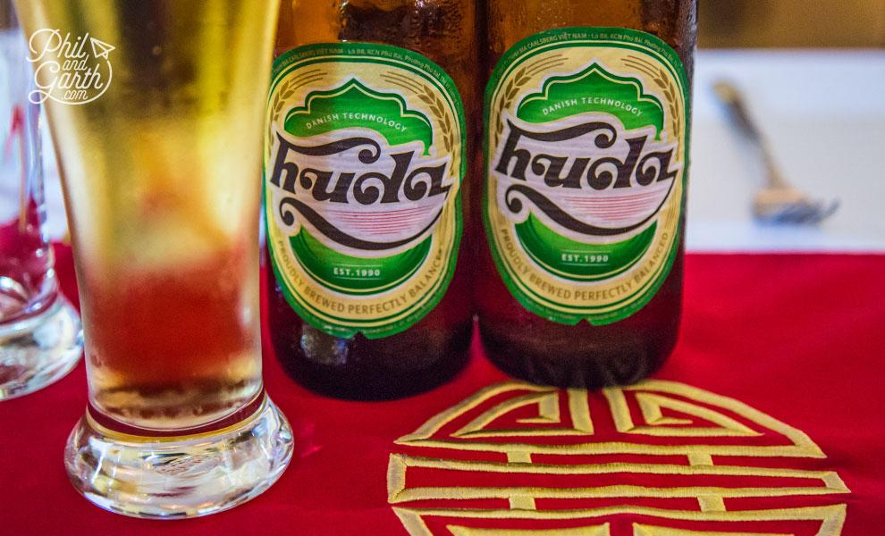 Hue's local beer - Huda