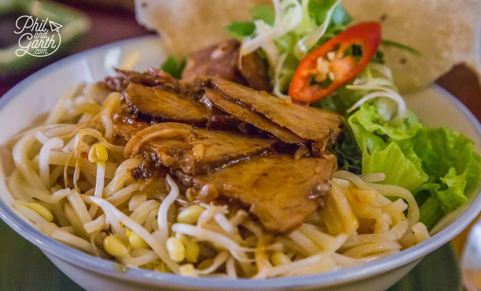 Cao Lau - Hoi An's signature yellow noodle dish