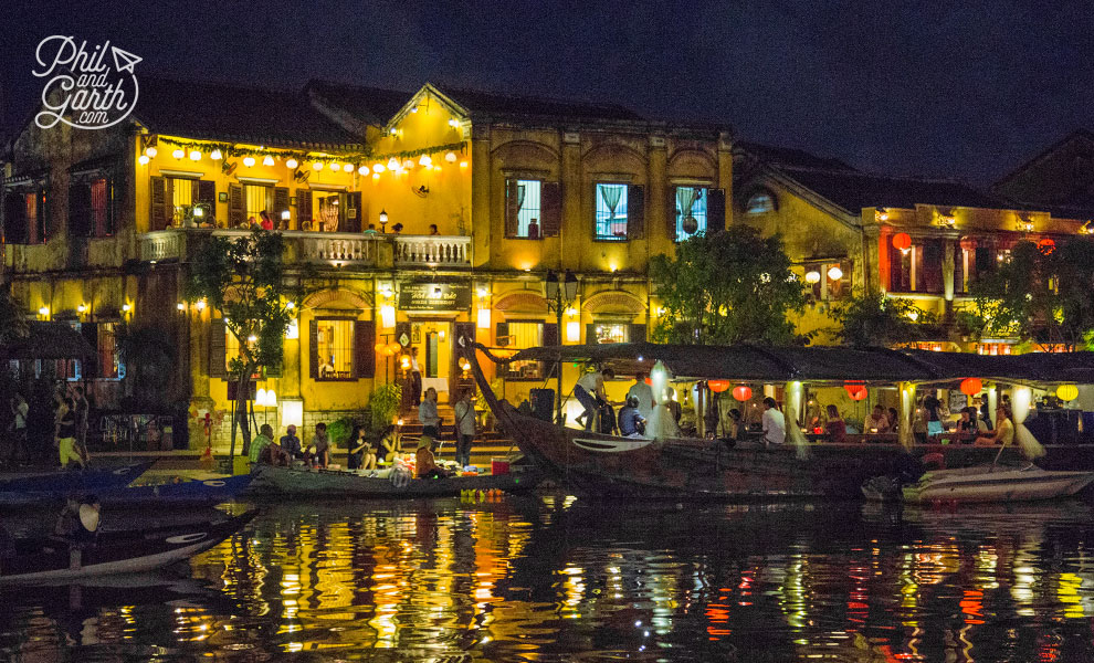 Hoa Anh Dao Sakura and Old Town by night