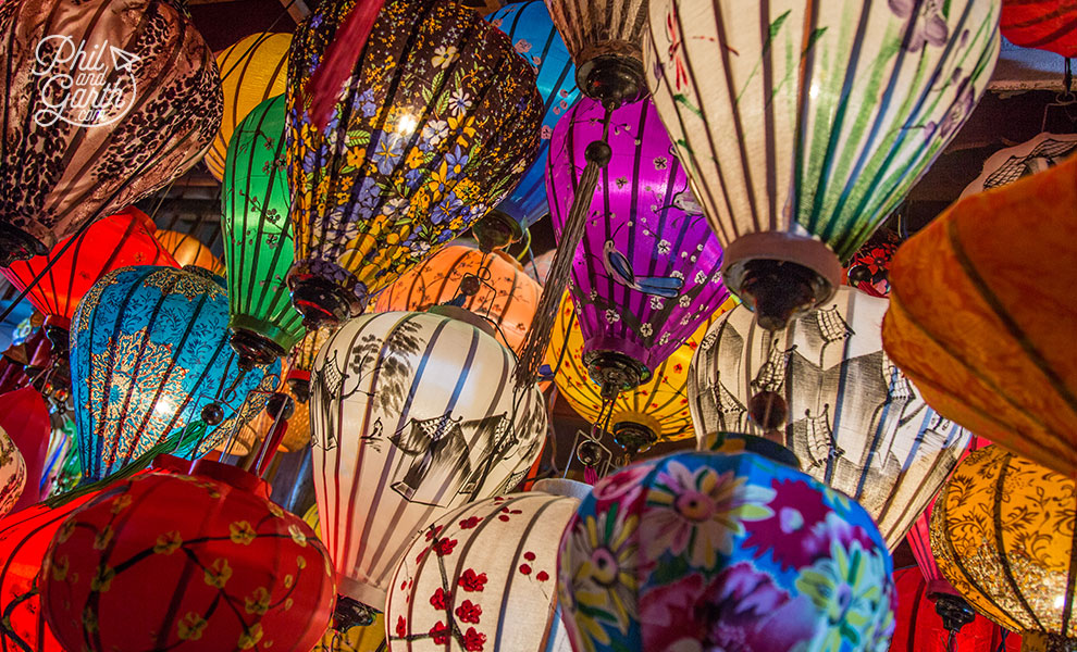 Silk lanterns are everywhere