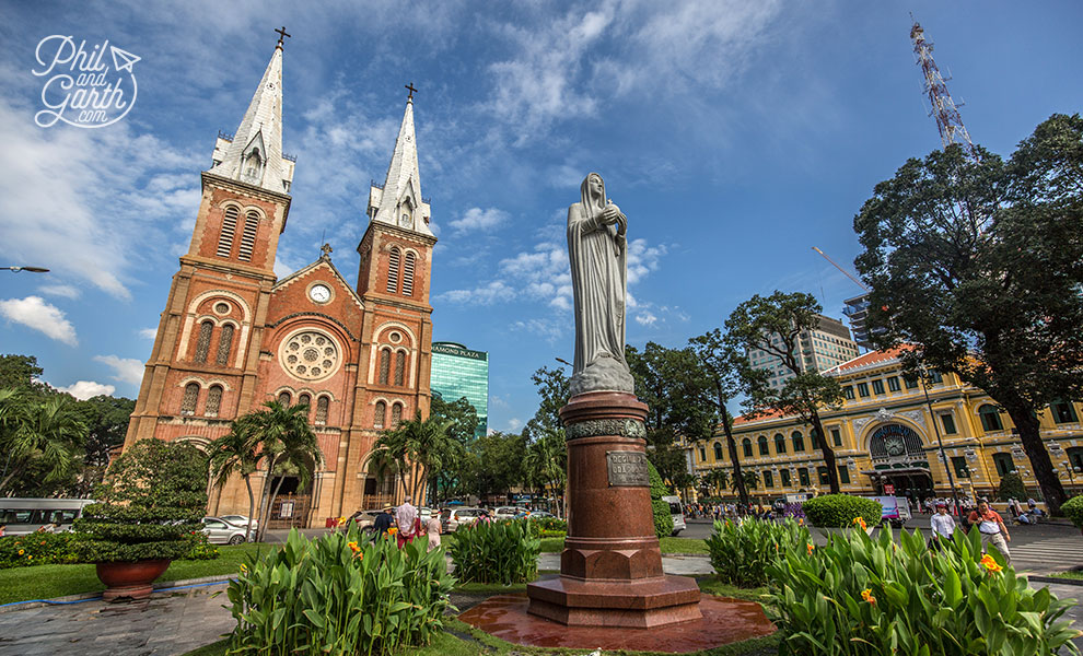 The landmark Saigon Notre-Dame Cathedral Basilica, to give it's full name.