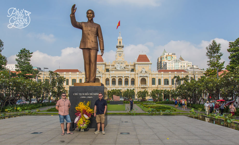 Phil and Garth with Uncle Ho in Saigon