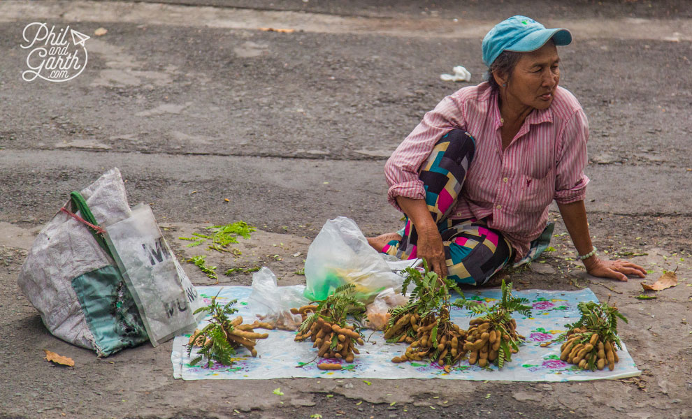 Selling tamarind on the street