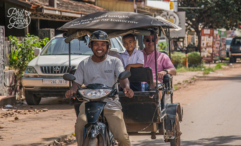 Getting around is fun and easy by tuk tuk