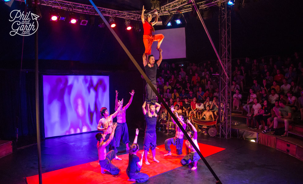 Dazzling acrobatics at the Phare Circus