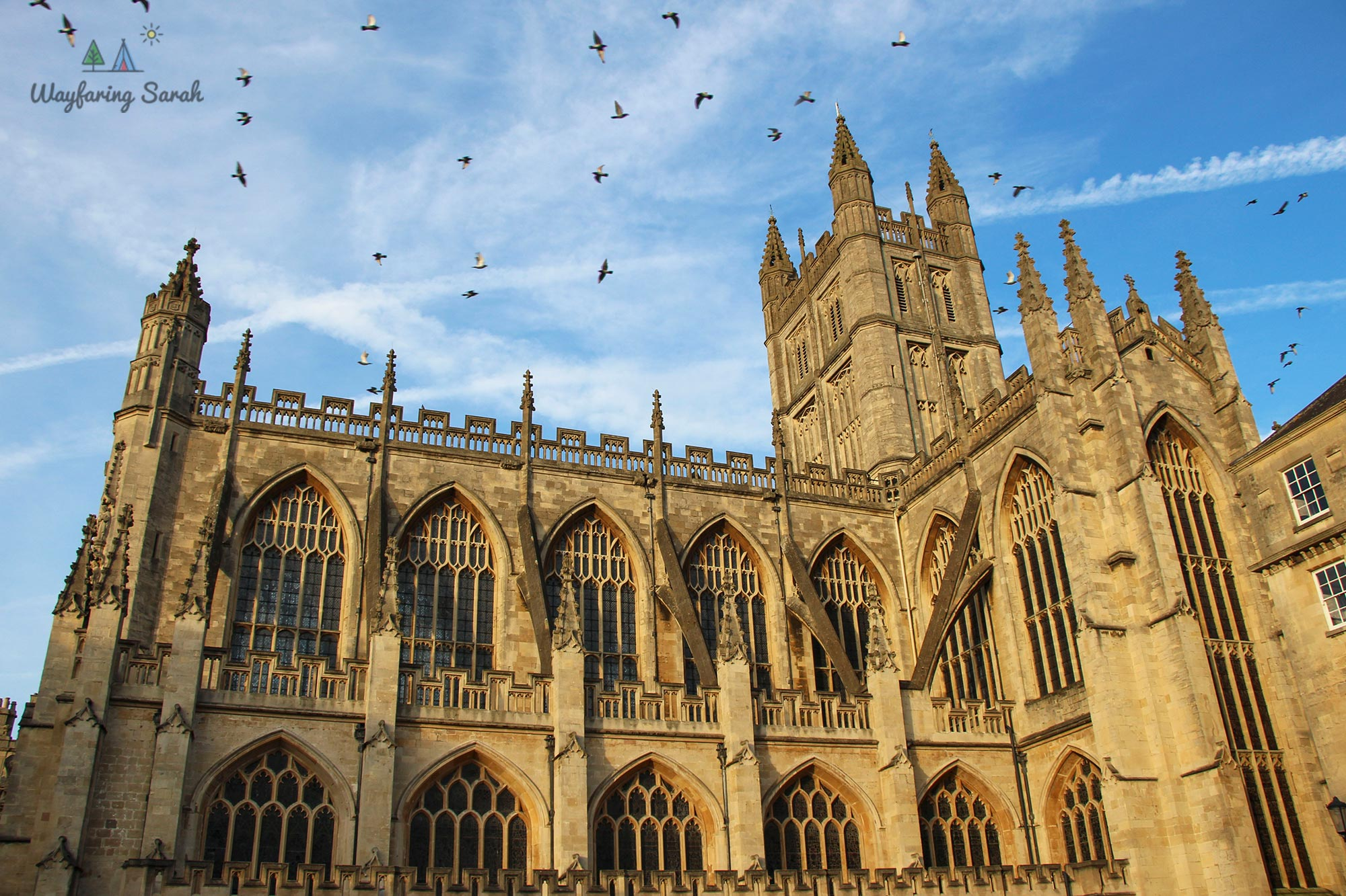 Bath Abbey is a 15th-century masterpiece that lies in the heart of the city