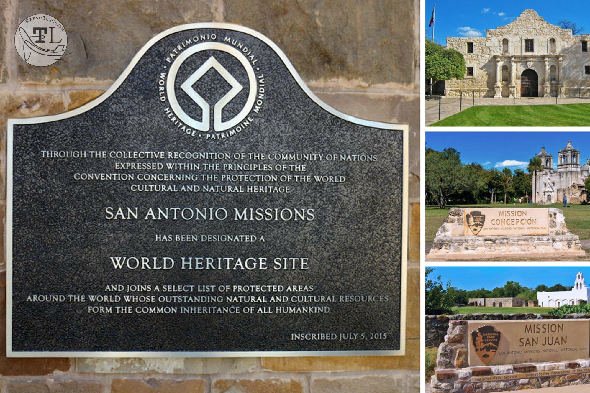 Comprised of five missions and a ranch, the Missions of San Antonio is the first UNESCO World Heritage site in Texas