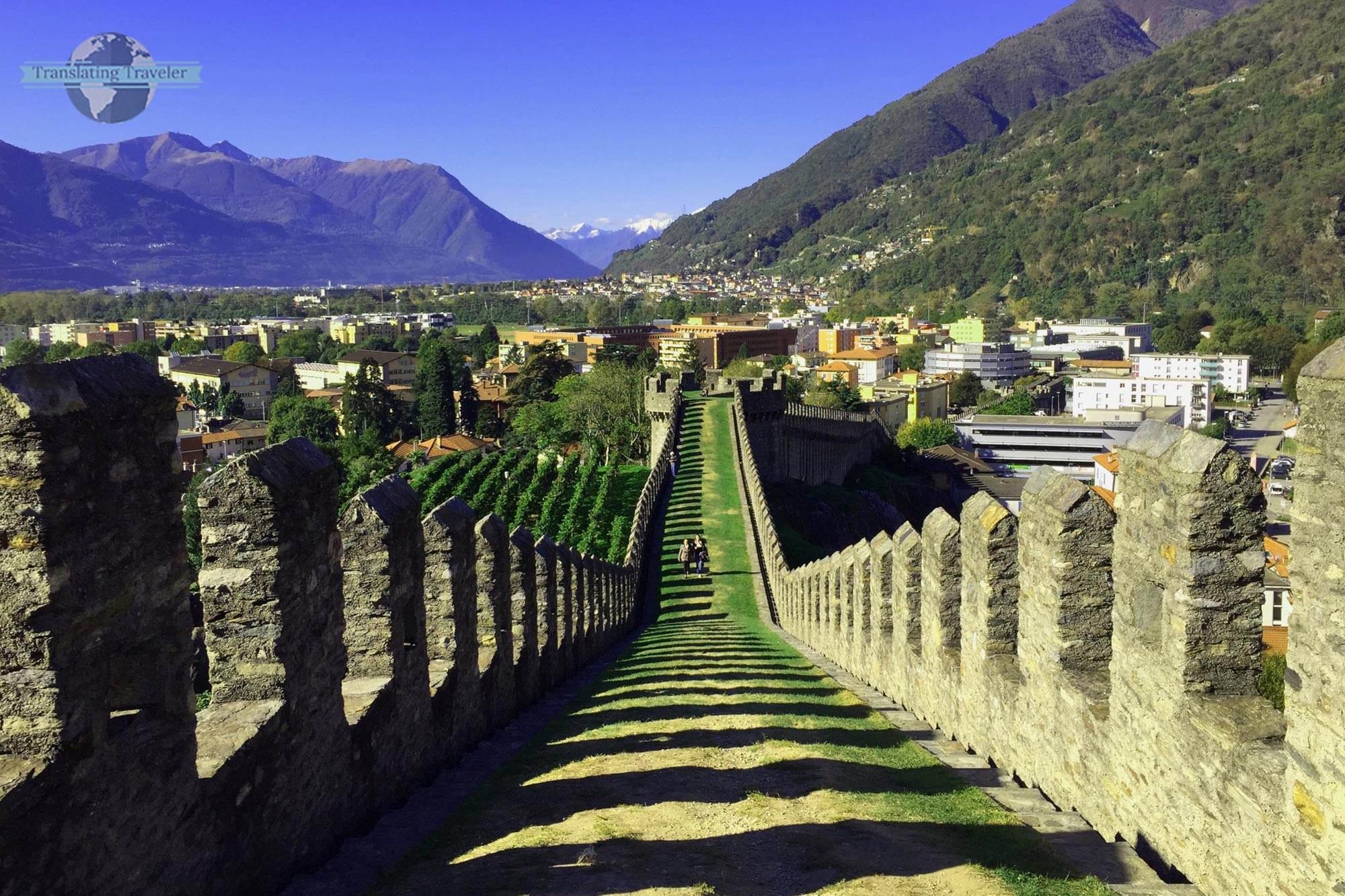 Fortified walls of Castelgrande, Italy