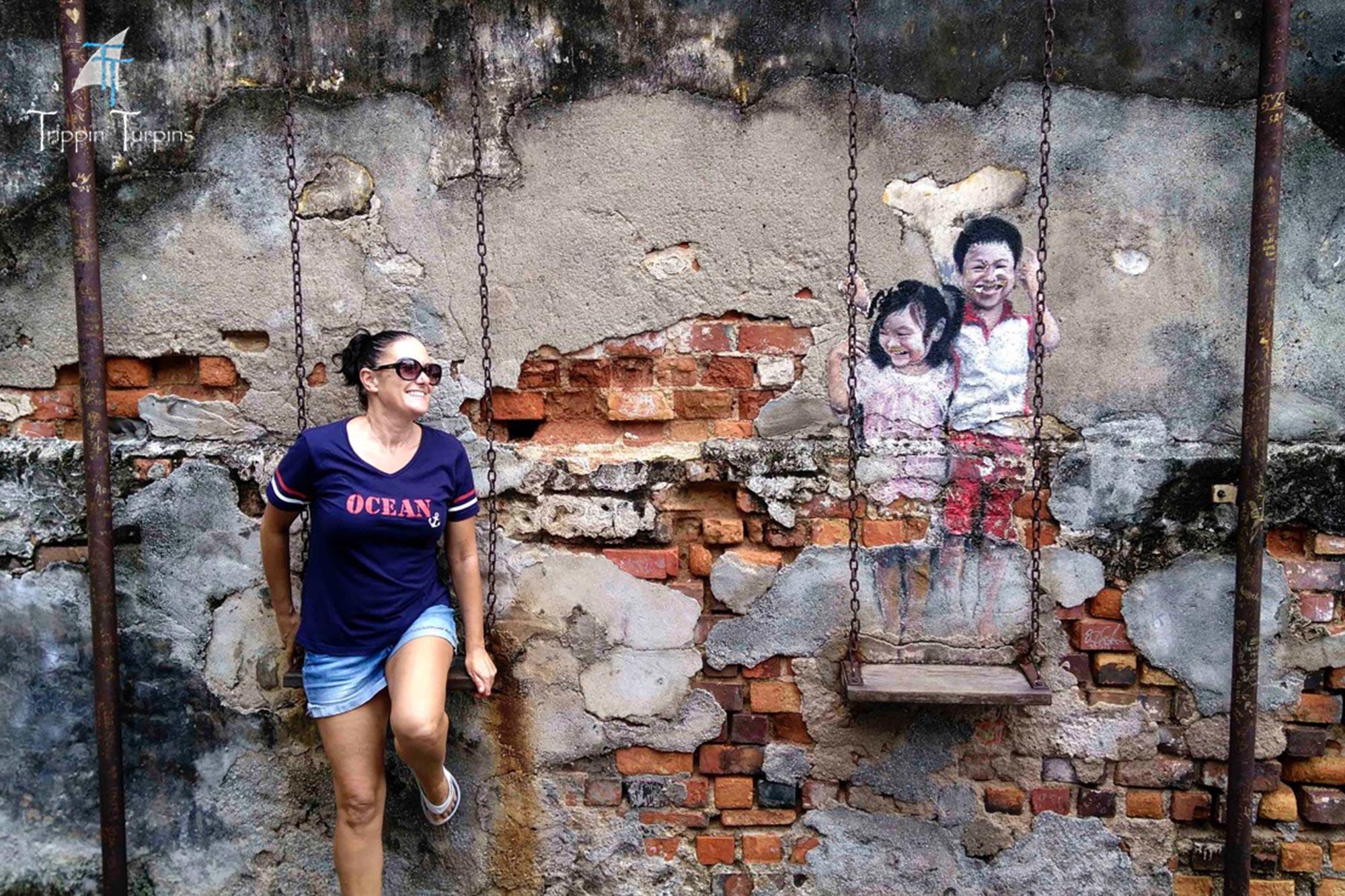 Georgetown street art in Penang, Malaysia