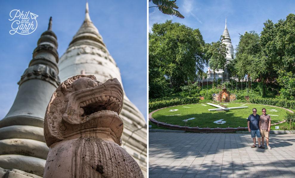 Phil and Garth at Wat Phnom
