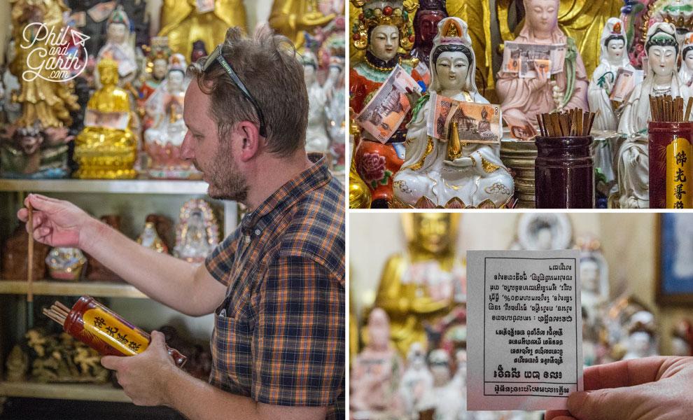 Garth getting his fortune at Wat Phnom