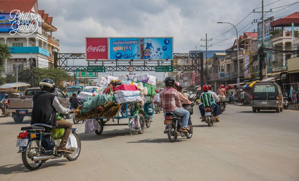 The traffic of Phnom Penh