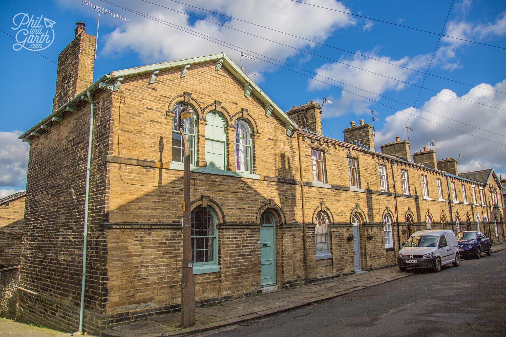 Saltaire houses near Bradford, England, UK