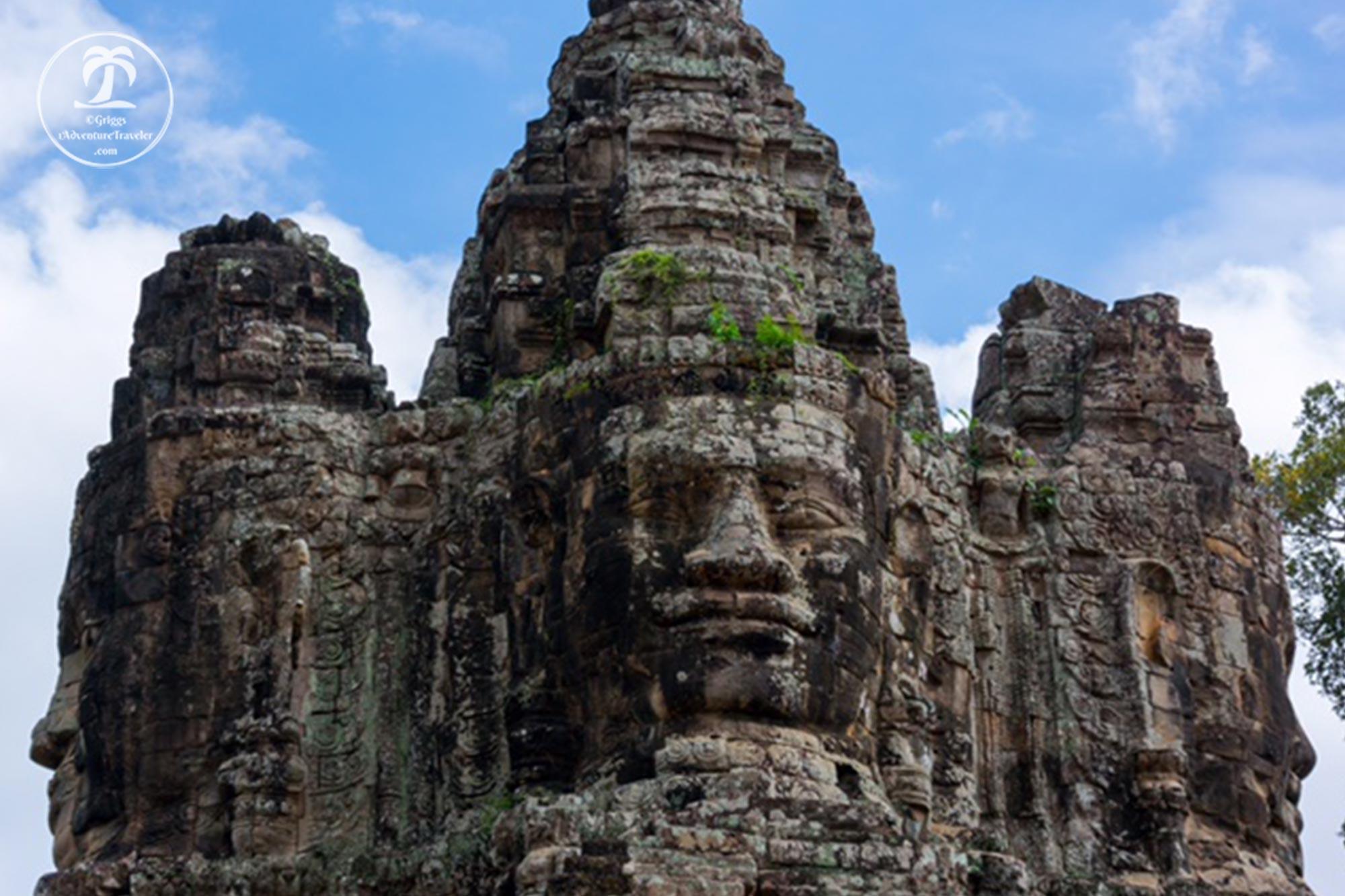 The faces of The Bayon Temple, Angkor, Cambodia