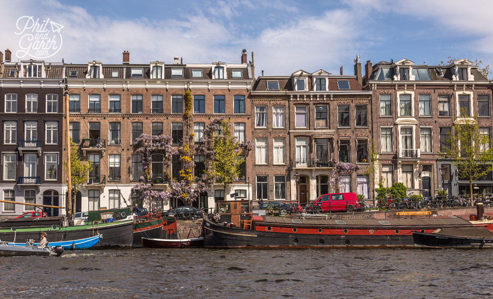 Houses along the Amstel canal