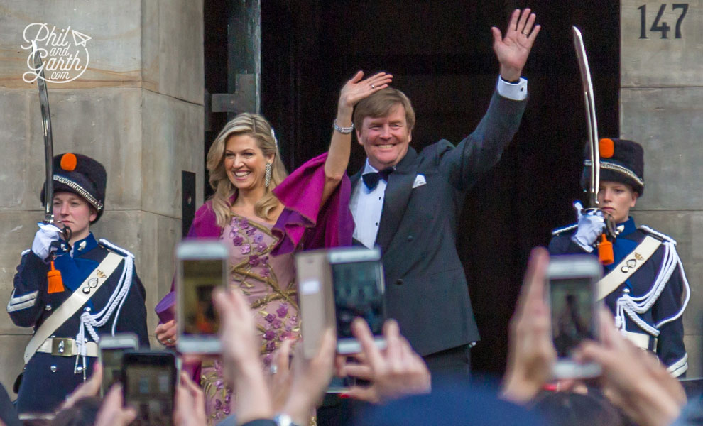 Timing! The King and Queen of the Netherlands