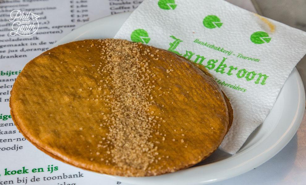 Delicious caramel stroopwafel