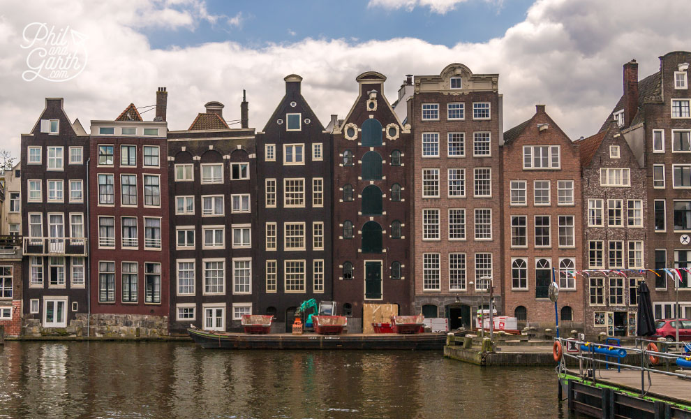 One of Amsterdam's most picturesque photo spots - The leaning houses of Damrak